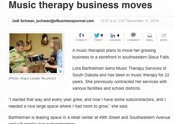 music therapy articles 2014
